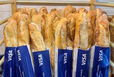 Sac à pain publicitaire visa