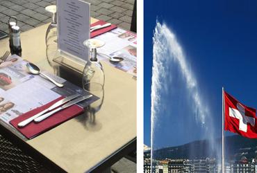 Set de table publicitaire Genève Suisse