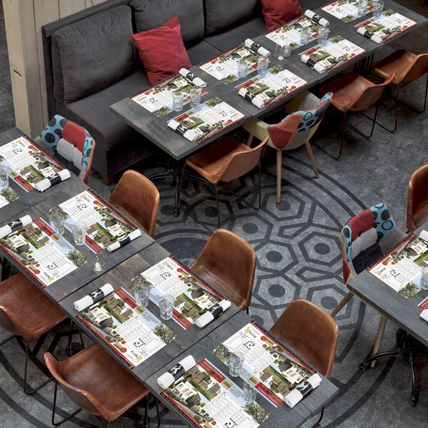 Autocrea set de table publicitaire