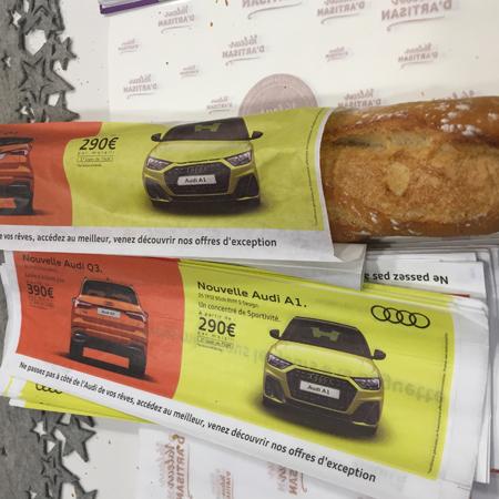 Etui à baguette publicitaire Audi