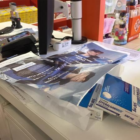 Sachet à pharmacie publicitaire Afflelou